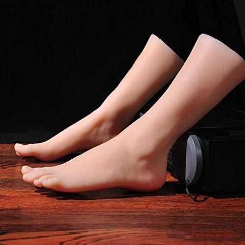 Mannequin Foot Simulationsfußmodell, Shooting Requisiten Damenständer Damen Sandalen Schuhe Socken Kurze Strümpfe Knöchelketten, Art Sketching Fußfetische für Männer
