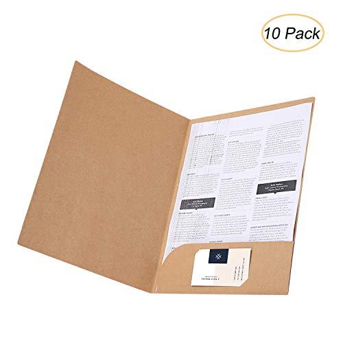 Carpeta papel kraft tamaño A4 corte cuadrado, portadocumentos