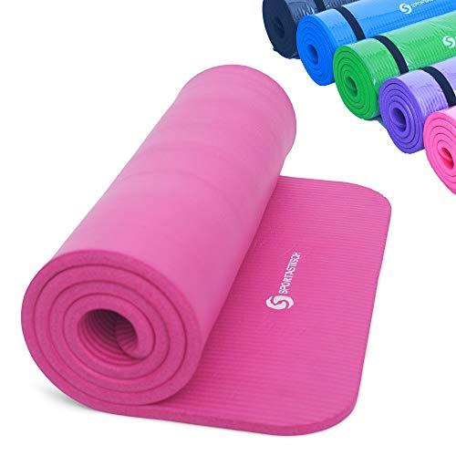 Sportastisch Top¹ Gymnastikmatte Gym Mat Pro mit Tragegurt | PINK | Premium Yogamatte: rutschfest | GRATIS E-Book und bis zu 3 Jahre Garantie²