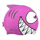 Spokey Haifisch für Kinder, Badekappe, Bademütze, Badehaube, Cap , spokey:Hai / 87476 rosa