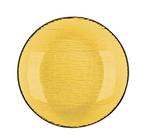 Excelsa Scratch Suppenteller, Glas, Gelb, 21x 21x 3.5cm