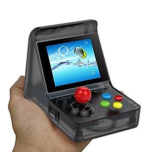 Handheld Spielkonsole, Handheld Game Console 3 Zoll Erbaut in 520 Klassische Mini Gaming Konsole Geburtstag Weihnachtsgeschenk für Kinder( Schwarz )
