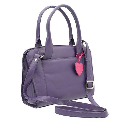 Pelle mala Anishka Collezione Grab Pelle / Cross Body Bag 760_75 Viola viola