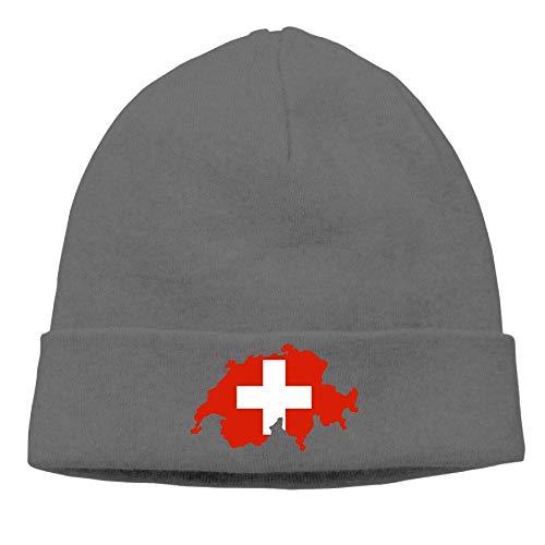 Funny Hip hop Unisex Daily Knitting Hat Men Women, Switzerland Map Watch Cap