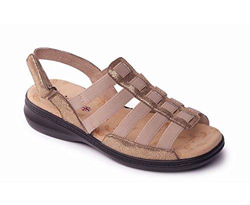 Padders Damen Sandale 'Lesley' | Römische Sandalen | Extra Breites Plus EEE Passmaß | 30mm Ferse (Frauen Für Breite Extra Schuhe)