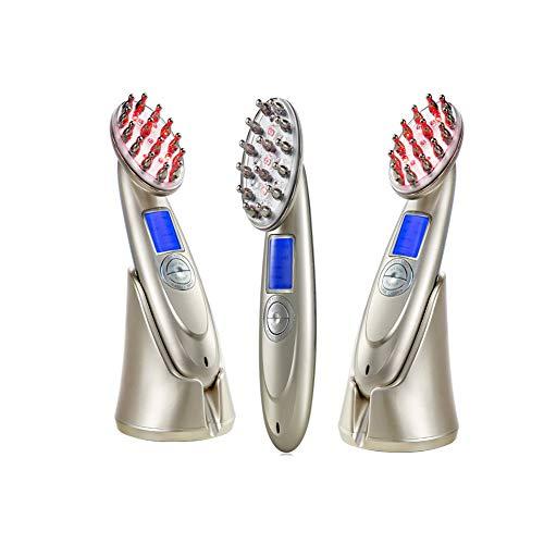 Elektrische massage laser rf einführung led lichtwelle haarkamm, kopfhaut massage licht perle massage friseur ausrüstung