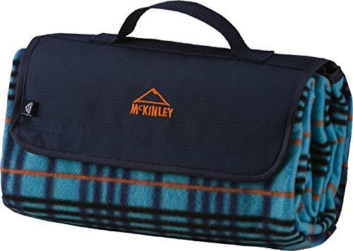 McKINLEY Picknickdecke Rug Fleece, blau/blau/orange,2