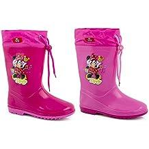 Disneys Authentic - Tiefkühl Regen Stiefel für Kinder - Eigenschaften Elsa und Anna - Größe UK 9 Und EU-Größe 27 djh4A