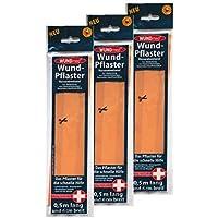 3 x WUNDmed Wundpflaster 0,5m x 6cm wasserabweisend, Heftpflaster, Wund-Verband preisvergleich bei billige-tabletten.eu