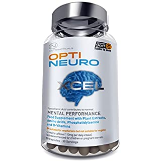 NEW Optineuro® Xcel for Mental Performance | #1 Top Rated Nootropics | STRONGEST Formula on the Market 6073mg ACTIVE | Recommended for Advanced Supplement Users | 90 Capsules