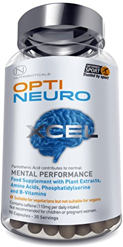 NEW Optineuro® Xcel for Mental Performance | #1 Top Rated Nootropics |  STRONGEST Formula on the Market 6073mg ACTIVE | Recommended for Advanced