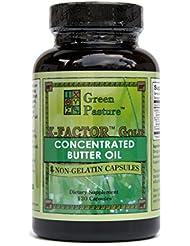 Green Pasture X-Factor Gold - Vitamine L'huile de beurre - 120 gélules