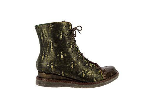 Laura Vita SL26513-2 Ernault 02 Schuhe Damen Stiefeletten Ankle Boots, Schuhgröße:37, Farbe:Braun -