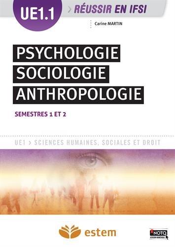 UE 1.1 - Psychologie, sociologie, anthro...