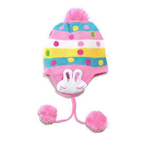 -Hüte, TheBigThumb nettes Kaninchen-warme Kappen-Hut Beanie Pilot-Flieger-Häkelarbeit-Earflap-Hut für Kinderkleinkinder ()