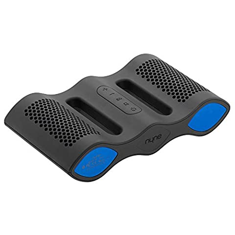 Nyne Aqua Universal Rechargeable Portable IPX-7 Rated Waterproof Bluetooth Wireless Speaker with Built-In Microphone - Black/Blue