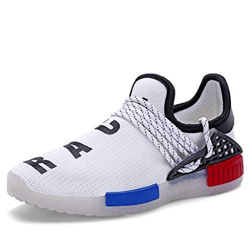 ZJEXJJ Kinder & Jungen & Mädchen7 色 Schuhe USB-Lade-Turnschuhe Kids Flashing Trainers (Farbe : Weiß, größe : 30)