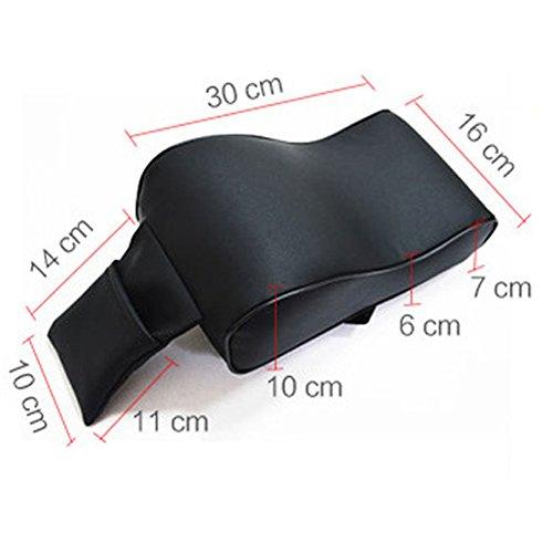 UxradG PU Leather Memory Foam Car Armrest Cushions Non-toxic Car Armrest Head Neck Rest Pillow Pad Covers Car Center Console Memory Cotton Arm Rest Box Pad