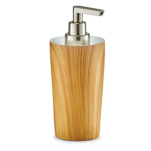 Zeller 18371 dispensador de jabón líquido, Wood, poliresina