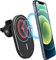 Padom 15W phone car wireless bracket charger, magnetic wireless charger car holder, suitable for iPhone 12, Pr