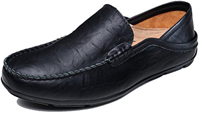 LYZGF Hombres Británico Casual Moda Lazy Transpirable Conducir Zapatos De Cuero -