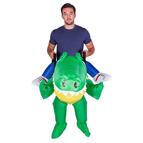 Imagen de disfraz de cocodrilo aligátor safari hinchable para adultos alternativa