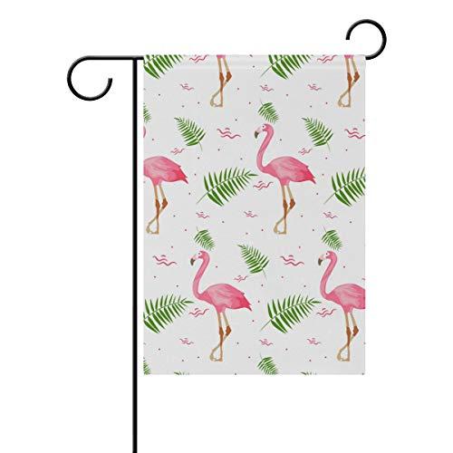 SUNOP Polyester-Gartenflagge Flamenco-Sommerbanner 30,5 x 45,7 cm für den Außenbereich, Zuhause, Garten, Blumentopf, Dekoration, Partyzubehör, Hausflagge