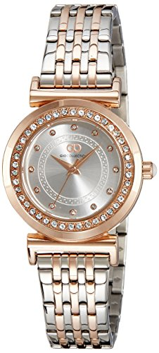 Gio Collection Analog Silver Dial Women's Watch - G2014-11 image