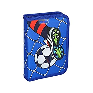 Spirit Estuche Escolar Fußball Goal, 1 Cremallera
