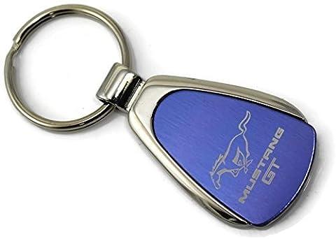 dantegts Ford Mustang Logo goutte Clé chaîne, bleu