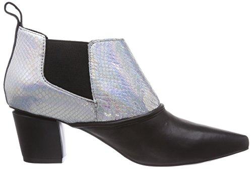 P1 - Vancouver, Stivaletti Donna Multicolore (Mehrfarbig (black/silver))