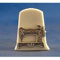 China de porcelana Birchcroft Coleccionable de dedal – envejecido Singer máquina de coser