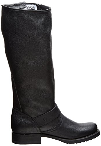 FRYE Women's Veronica Slouch Boot: Wide Calf, Black Calf Shine Leather Wide Calf, 5.5 M US Black/Wide Calf