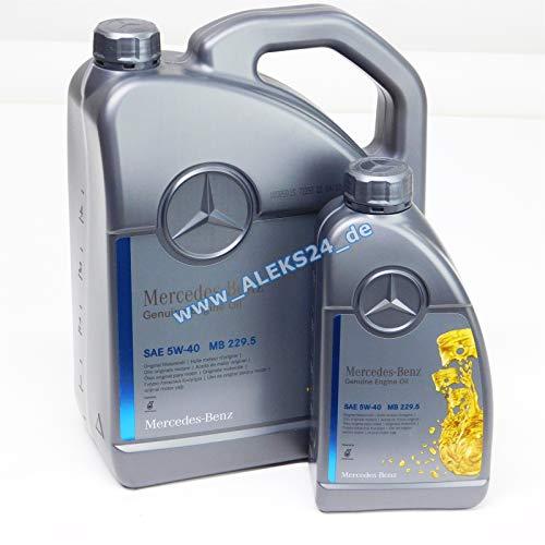 Mercedes Original-Motoröl Benz 229.5, 5W40 6 Liter