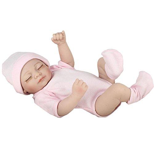 Reborn Toddler Baby en plastique Pretty in Pink, poupée Real Life Girl de 11.02 pouces