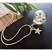 Dandelion Star Charm Necklace Pendant with Sterling Silver Chain with GIFT BOX Personalized Gift Birthday Gift Jewellery for women and girls