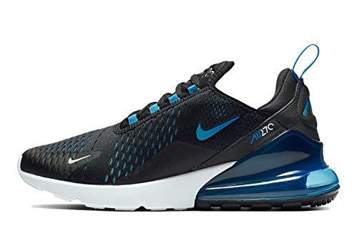 Nike Air Max 270 Ah8050-019 Herren, Schwarz (Black/Blue Fury/Pure Platinumphoto Blue), 45.5 EU M - Air Nike Laufen Herren Schuhe