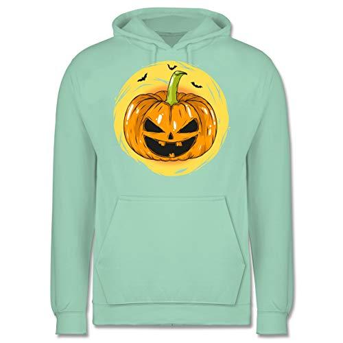Halloween - Halloween Kürbis Gesicht - XS - Mint - JH001 - Herren Hoodie