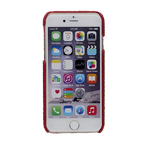 Coque Étui de Protection pour iPhone 7 Plus Léger Mince Dur Case Anti choc pour Apple iPhone 7 Plus 5.5 inch 3D Crocodile Or avec 1 Silicone Kickstand rouge