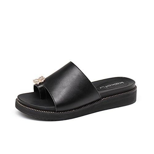 Talons Moyens,A-ligne Chausson Tongs L'usure,Wedge Sandals B