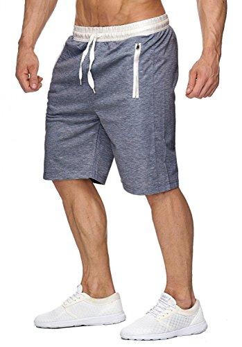 Herren Sweat Shorts Jogging Pant Sport Bermuda H1927 Dunkelgrau