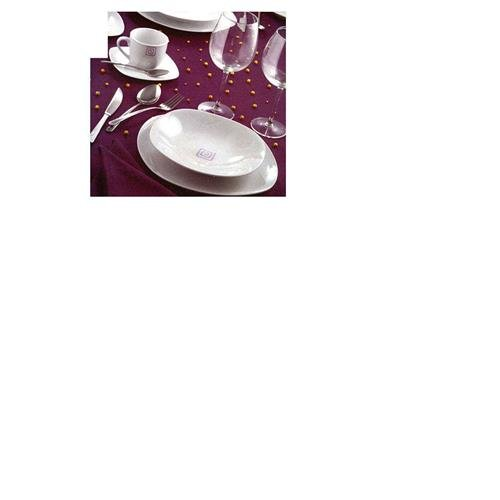 Dankotuwa Assiette plate rond porcelaine. BCA.