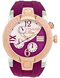 Mulco Unisex MW5-1877-523 ILUSION CRESCENT Analog Display Swiss Quartz Purple Watch