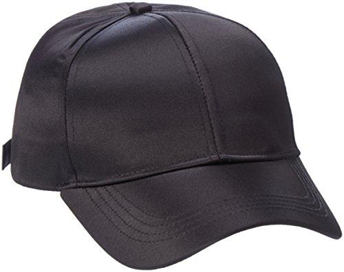 PIECES Damen Baseball Pcrivina Satin Cap, Schwarz (Black), One Size Satin Cap