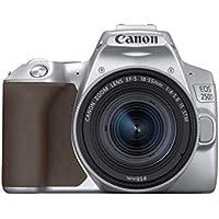 Canon EOS 250D - Cámara digital (24,1 MP, 6000 x 4000 Pixeles, CMOS, 4K Ultra HD, pantalla táctil) plata - kit con cuerpo y EF-S 18-55IS STM