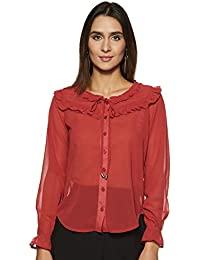 Amazon Brand - Symbol Women's Ruffle Blouse Top