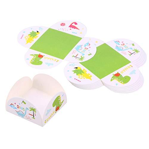 BESTONZON 10 Stücke Schokoladenpapier Tablett Dinosaurier Gemustert Einweg Cupcake Cookies Box Container Party Supplies