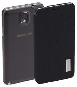 """ROCK Ultra Slim Premium Flip Ledertasche Schutzhülle """"Elegant"""" für Samsung Galaxy Note 3 in schwarz"""
