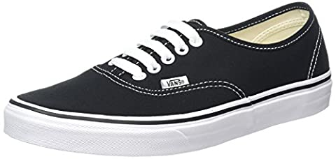 Vans Authentic, Unisex-Adults' Low-Top Trainers, Black/White,8 UK (42 EU)