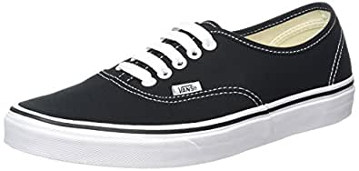 Vans U Authentic - Baskets Mode Mixte Adulte - Noir (Black/White) - 34.5 EU